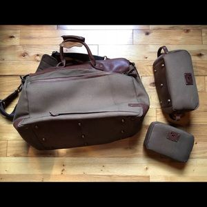 5c5f55923ddd Will Leather Goods Bags - Will Leather Goods Canvas   Leather Travel Duffle